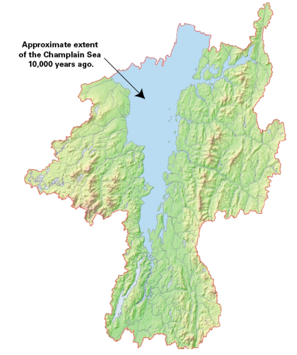 Unstable Present Living With The Champlain Sea FOP - Lake champlain on us map