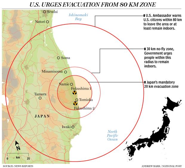 Evacuation Zones Elusive Borders In Motion FOP - Japan zone map